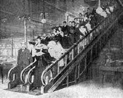 Первые эскалаторы