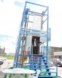 На выставке «Astana Build`2013» был представлен лифт, готовый увезти прямо в небо